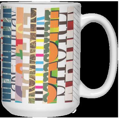 Cut Stripes Mug by Khrysso